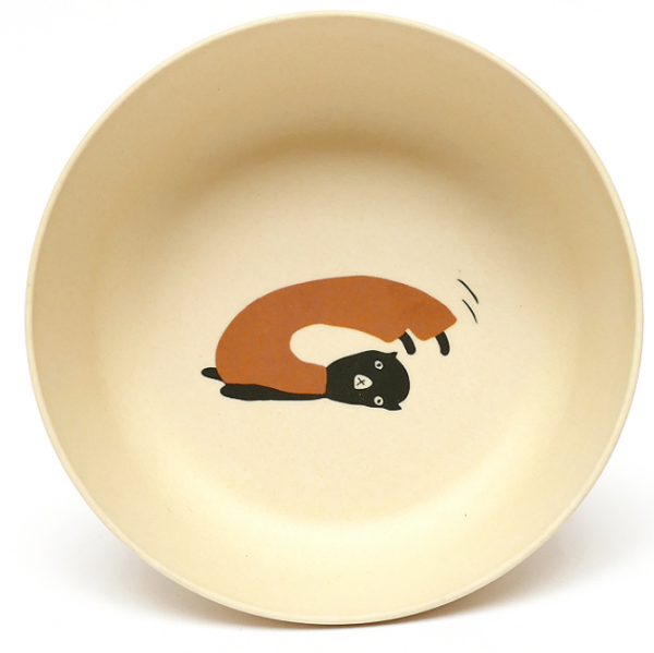 Bamboo tableware bowl for babies