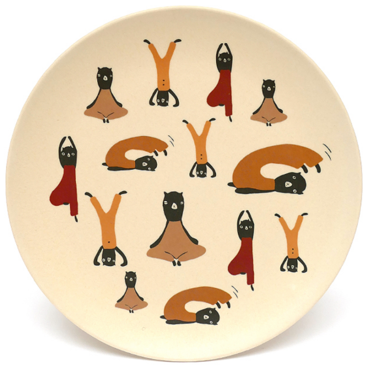 Bamboo tableware plate for babies
