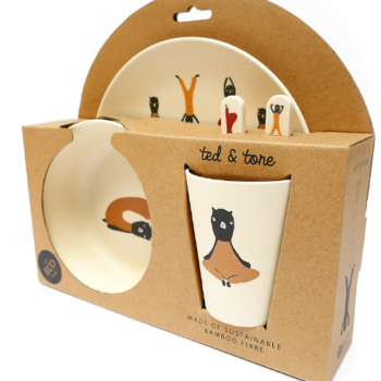 Bamboo tableware set for babies