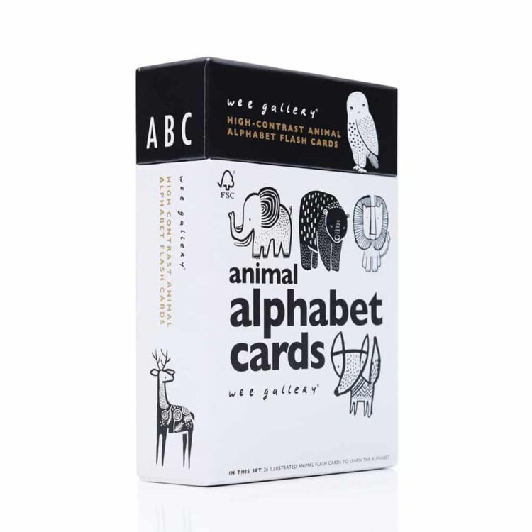 wee gallery Alphabet Flash Cards for Babys