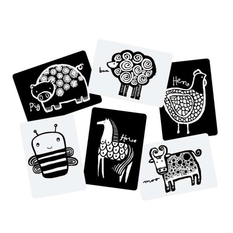 wee gallery Art Cards for Babys – Farm Animals