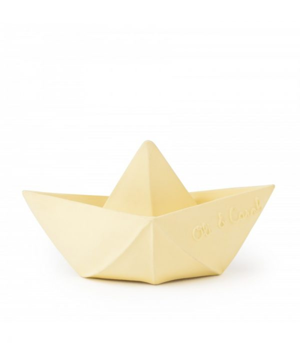 Vanilla Origami Boat for Babies